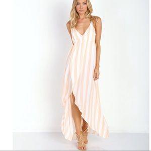 c2fd727413 Wildfox Atlantis Hotel Stripe Wrap Maxi Dress NWOT